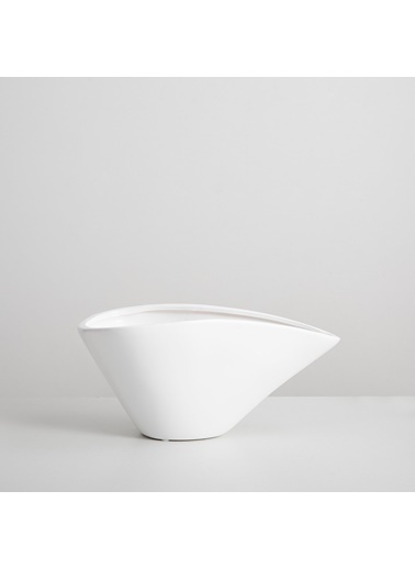 Chakra Ancec Saksı S 31x17x11 cm Beyaz Beyaz